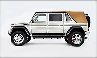 BNPS.co.uk (01202 558833)Pic: Bonhams/BNPS<br /> <br /> Mercedes' 'G-class' Maybach G650.<br /> <br /> A limited edition Mercedes G-class has sold for a massive &pound;1.2m at auction - a world record for the footballers favourite.<br /> <br /> The Mercedes-Maybach G650 Landaulet, is one of 99 to be made and sold for more than double the list price of &euro;630,000 (Around 563,000).<br /> <br /> The height of luxury, features include heated cup holders, massage chairs, individual fully-reclinable seats and a partition between driver and passengers which goes from clear to opaque in seconds.<br /> <br /> It also has a canvas roof which opens at the touch of a button, fold-out leather tables, silver champagne flutes and state of the art entertainment systems.