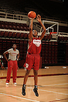 Stanford, CA - SEPTEMBER 30:  Forward Nneka Ogwumike #30 of the Stanford Cardinal during Stanford's practice on September 30, 2008 at Maples Pavilion in Stanford, California.