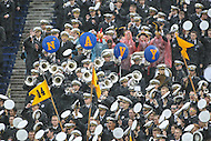 Annapolis, MD - October 8, 2016: Navy band performs during game between Houston and Navy at  Navy-Marine Corps Memorial Stadium in Annapolis, MD.   (Photo by Elliott Brown/Media Images International)