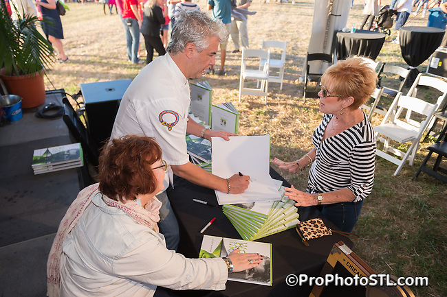 Taste of St. Louis food sampling event in Chesterfield, Missouri on Sep 19, 2015.