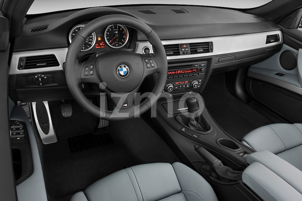 High angle dashboard view of a 2008 BMW M3 Convertible