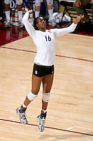 30 November 2007: Foluke Akinradewo during Stanford's 3-0 win over Santa Clara University in the first round of the NCAA Division 1 Women's Volleyball Championships in Maples Pavilion in Stanford, CA.