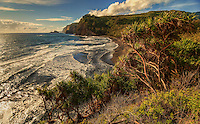 An extensive view of Pololu Valley and beyond, North Kohala, Big Island of Hawai'i.