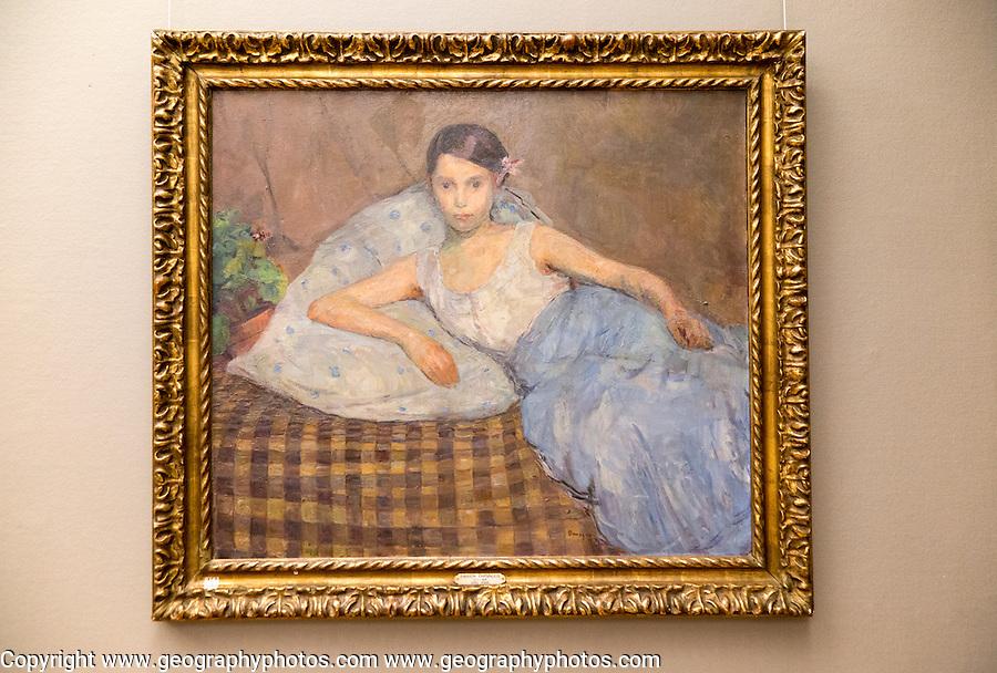 'Reclining Woman' 1908 oil painting on canvas, Soren Onsager 1878-1946, Kode 3 art gallery Bergen, Norway