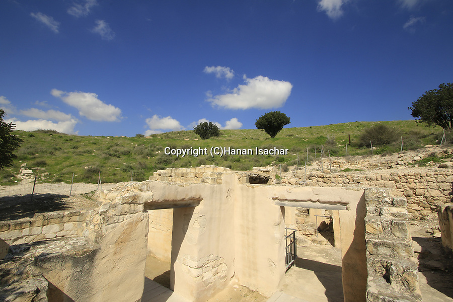 Israel, Shephelah, Beth Guvrin national park, residential area in Maresha from the Hellenistic period 3rd-2nd centuries BC.
