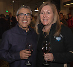 Jerry Juarez and Pam Schoening at the 3rd Street Flats Grand Opening in downtown Reno on Jan. 24, 2017.