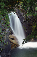 Powder Creek Falls in Purcell Mountains adjacent to Kaslo, BC