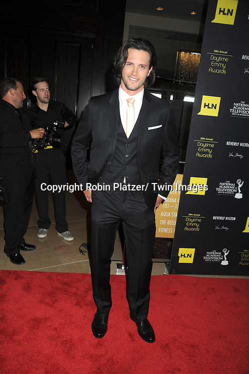 Nathan Parsons attends the 39th Annual Daytime Emmy Awards on June 23, 2012 at the Beverly Hilton in Beverly Hills, California. The awards were broadcast on HLN.