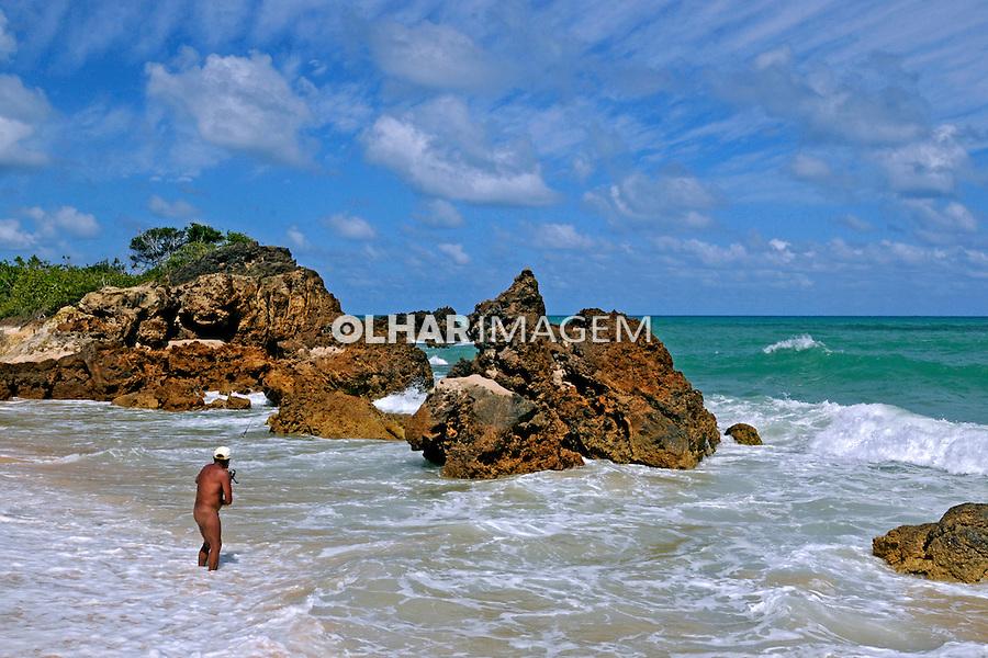 Praia de nudismo, Tambaba. Paraíba. 2009. Foto de Catherine Krulik.