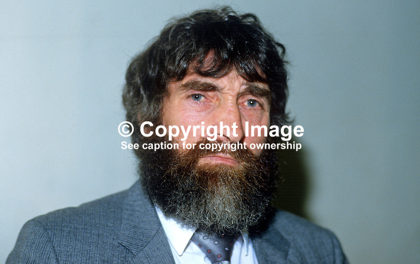Eddie Fullerton, Co Donegal, Rep of Ireland, prominent member, activist, Provisional Sinn Fein, member, Donegal County Council, 19851104EF2..Copyright Image from Victor Patterson, 54 Dorchester Park, Belfast, UK, BT9 6RJ..Tel: +44 28 9066 1296.Mob: +44 7802 353836.Voicemail +44 20 8816 7153.Skype: victorpattersonbelfast.Email: victorpatterson@me.com.Email: victorpatterson@ireland.com (back-up)..IMPORTANT: If you wish to use this image or any other of my images please go to www.victorpatterson.com and click on the Terms & Conditions. Then contact me by email or phone with the reference number(s) of the image(s) concerned.
