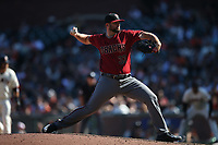 SAN FRANCISCO, CA - SEPTEMBER 17:  Jake Barrett #33 of the Arizona Diamondbacks pitches against the San Francisco Giants during the game at AT&T Park on Sunday, September 17, 2017 in San Francisco, California. (Photo by Brad Mangin)