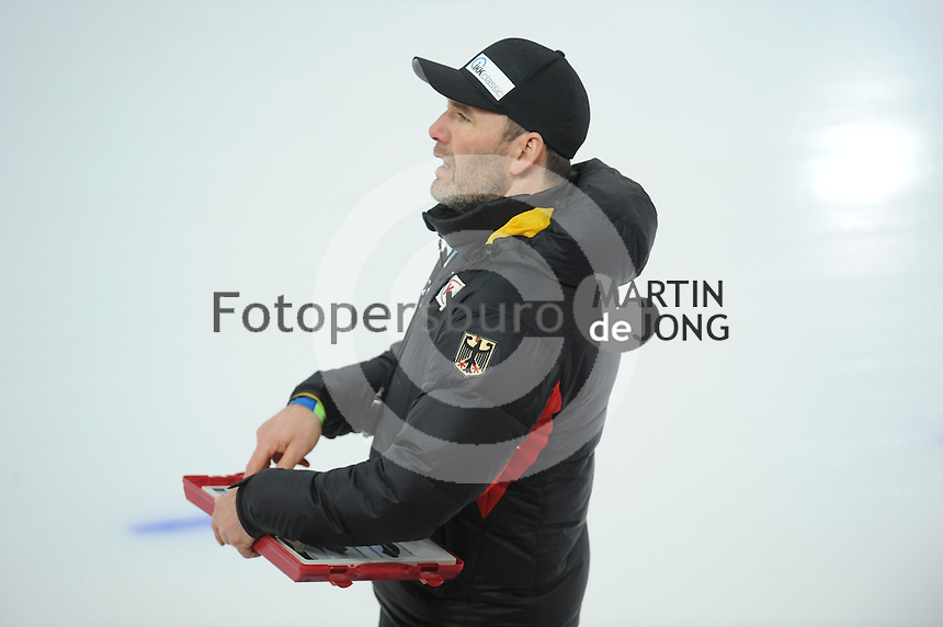 SPEED SKATING: HAMAR: Vikingskipet, 04-03-2017, ISU World Championship Allround, Jan van Veen (coach GER), ©photo Martin de Jong