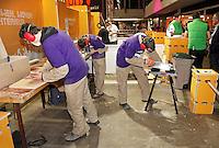 Skills Masters beurs in Ahoy. Vakwedstrijd timmeren / houtbewerken