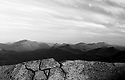 Mount Carrigain and the rugged surrounding terrain, rendered nicely to a black and white image.