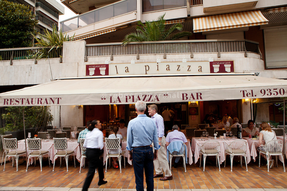 Restaurant 'La Piazza', Monaco, 6 July 2013