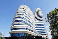 Groningen. Kantoor voor de Dienst Uitvoering Onderwijs en de Belastingdienst. Het gebouw is een ontwerp van UNStudio