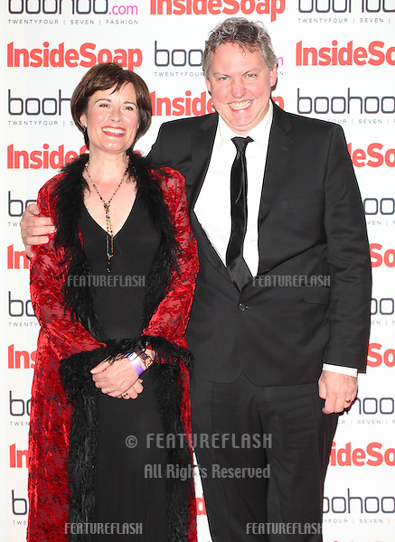 Catherine Russell and Bob Barratt arriving for the 2012 Inside Soap Awards, at No.1 Marylebone, London. 24/09/2012 Picture by: Alexandra Glen / Featureflash