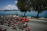 The start of Stage 10 of the 2018 Tour de France running 158.5km from Annecy to Le Grand-Bornand, France. 17th July 2018. <br /> Picture: ASO/Pauline Ballet | Cyclefile<br /> All photos usage must carry mandatory copyright credit (&copy; Cyclefile | ASO/Pauline Ballet)