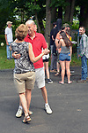 Couple dancing to music of, PURPLE K'NIF,  at the Creekside Stage, at the Rosendale Street Festival of 2017, in Rosendale, NY, on Saturday, July 15, 2017. Photo by Jim Peppler. Copyright/Jim Peppler-2017.