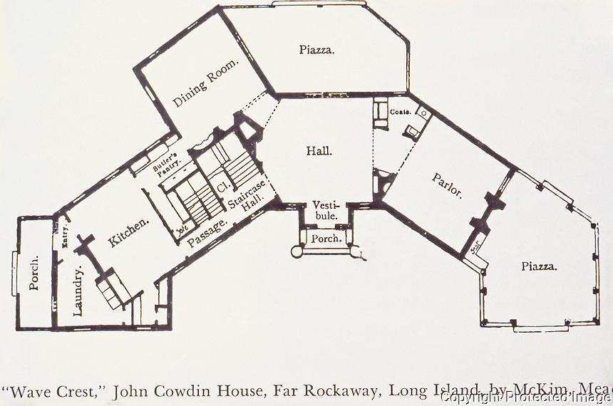 "McKim, Mead & White: ""Wave Crest"", John Cowdin House, Far Rockaway, Long Island, 1885."