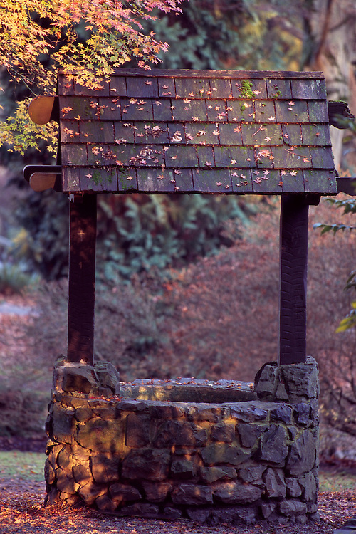 The Wishing Well by the Garden of Remembrance in Stanley Park, Vancouver, BC.