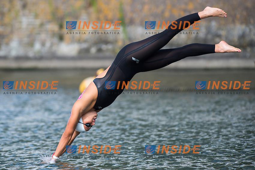 VAN ROUWENDAAL Sharon NED bronze medal <br /> Hoorn, Netherlands <br /> LEN 2016 European Open Water Swimming Championships <br /> Open Water Swimming<br /> Women's 5km<br /> Day 02 12-07-2016<br /> Photo Giorgio Perottino/Deepbluemedia/Insidefoto