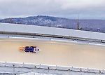 9 January 2016: Matthew Antoine, competing for the United States of America, slides through Curve 14 on his second run of the day during the BMW IBSF World Cup Skeleton Championships at the Olympic Sports Track in Lake Placid, New York, USA. Antoine ended the day with a combined 2-run time of 1:49.91 and a 5th place overall finish. Mandatory Credit: Ed Wolfstein Photo *** RAW (NEF) Image File Available ***