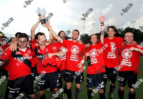 2010-05-30 / Hockey / Play-Off Finale Dragons - Racing / De spelers van Dragons vieren de titel ..Foto: mpics