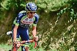 Thomas Degand (BEL) Wanty-Groupe Gobert out front during Stage 7 of the 2018 Tour de France running 231km from Fougeres to Chartres, France. 13th July 2018. <br /> Picture: ASO/Pauline Ballet | Cyclefile<br /> All photos usage must carry mandatory copyright credit (&copy; Cyclefile | ASO/Pauline Ballet)