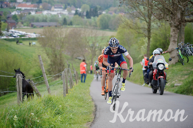 Pirmin Lang (SHE/IAM) up the 'steepest climb' in Holland: Keutenberg (22%)<br /> <br /> Amstel Gold Race 2014