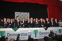 SAO PAULO, SP, 17 DE MAIO 2012 - DEMOCRATAS ANUNCIA APOIO AO CANDIDATURA DE JOSE SERRA -  Rodrigo Garcia (E) durante evento em que o Democratas anuncia apoio a candidatura de Jose Serra no Clube Homs na regiao da Avenida Paulista, nesta quinta-feira, 17. (FOTO: THAIS RIBEIRO / BRAZIL PHOTO PRESS).
