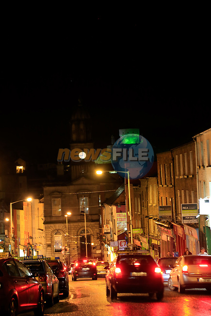 Millmount lit up in green for ST Patricks Day.<br /> Picture: Fran Caffrey www.newsfile.ie
