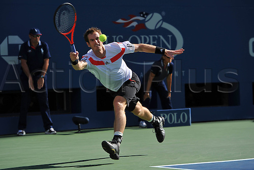 05.09.2013. Flushing Medows, New York, USA. US Open Tennis tournament, Mens singles quarter final. Andy Murray versus Stanislas Wawrinka. Wawrinka won in straight sets to proceeds to the semi-finals.   Andy Murray (GB)