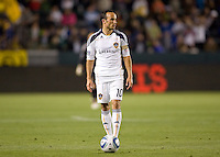 LA Galaxy forward Landon Donovan (10-l) waiting patiently for the refs whistle. The LA Galaxy and Toronto FC played to a 0-0 draw at Home Depot Center stadium in Carson, California on Saturday May 15, 2010.  .