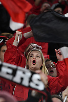Leverkusen fan cheers on <br /> Torino 01/10/2019 Juventus Stadium <br /> Football Champions League 2019//2020 <br /> Group Stage Group D <br /> Juventus - Leverkusen <br /> Photo Andrea Staccioli / Insidefoto