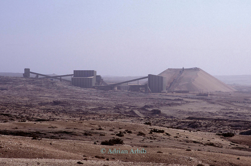 Diamond mine in the Diamond coast region of the Namib Naukluft desert. This area is owned by De Beers and is completely restricted.