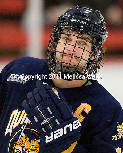 Scott Zurevinski (Quinnipiac - 19) - The Harvard University Crimson and Quinnipiac University Bobcats played to a 2-2 tie on Saturday, November 5, 2011, at Bright Hockey Center in Cambridge, Massachusetts.