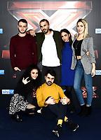 Marco Anastasio-Luna Melis-Naomi Rivieccio-Bowland<br /> Milano 12-12-2018 <br /> Photocall Finalisti TV X Factor 2018 <br /> Foto Daniele Buffa / Image / Insidefoto