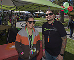 Michelle and Rudy during the inaugural Bud and Brew Music Festival in Wingfield Park in downtown Reno on Saturday, Sept. 23, 2017.