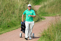 Jack Hume (IRL) on the 15th tee during the Afternoon Singles between Ireland and Wales at the Home Internationals at Royal Portrush Golf Club on Thursday 13th August 2015.<br /> Picture:  Thos Caffrey / www.golffile.ie