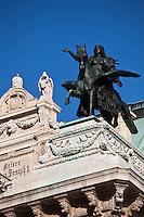 Europe/Autriche/Niederösterreich/Vienne: L'Opéra -le Staatsoper  et statue équestre par Ernst Julius Hähnel