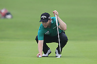 Branden Grace (RSA) on the 17th green during Saturay's Round 3 of the 2014 BMW Masters held at Lake Malaren, Shanghai, China. 1st November 2014.<br /> Picture: Eoin Clarke www.golffile.ie
