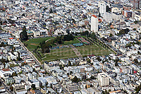 aerial photograph Alta Plaza park Pacific Heights San Francisco landscape architecture