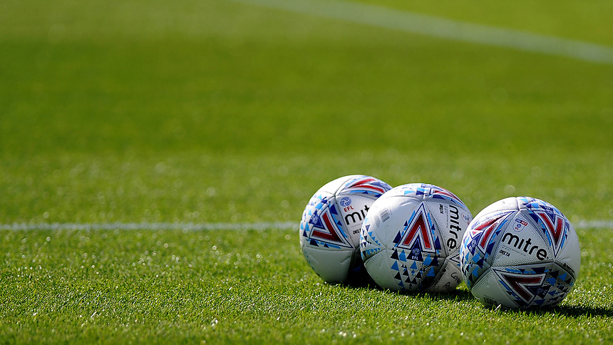 Blackpool's mitre footballs during the pre-match warm-up <br /> <br /> Photographer Ashley Crowden/CameraSport<br /> <br /> The EFL Sky Bet League One - Bristol Rovers v Blackpool - Saturday 23rd September 2017 - Memorial Stadium - Bristol<br /> <br /> World Copyright &copy; 2017 CameraSport. All rights reserved. 43 Linden Ave. Countesthorpe. Leicester. England. LE8 5PG - Tel: +44 (0) 116 277 4147 - admin@camerasport.com - www.camerasport.com
