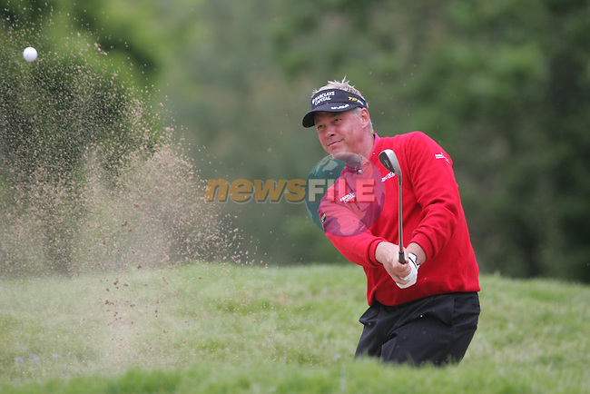 Darren Clarke Chips out of the bunker on the 3rd hole during the final round of the 2008 Irish Open at Adare Manor Golf Resort, Adare,Co.Limerick, Ireland 18th May 2008 (Photo by Eoin Clarke/GOLFFILE)