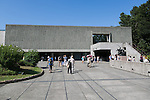 A general view of the National Museum of Western Art in Ueno Park on July 18, 2016, Tokyo, Japan. The UNESCO World Heritage Committee decided to add Japan's National Museum of Western Art designed by the Swiss-French architect Le Corbusier to the World Heritage list during a meeting in Istanbul on Sunday. The museum which was completed in 1959 is the only Japanese structure designed by the world renowned architect. (Photo by Rodrigo Reyes Marin/AFLO)