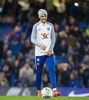 Alvaro Morata of Chelsea smiles during pre match warm up during the Carabao Cup round of 16 match between Chelsea and Everton at Stamford Bridge, London, England on 25 October 2017. Photo by Andy Rowland.