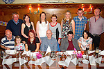 Celebrating the 21st Birthday of Catherine Curtin in Leens Hotel, Abeyfeale, on Monday were Front Row: Jeff and Katie Collins, Catherine Curtin, Seanie Scollard, Mike Curtin and Monica Curtin, Brosna. Back row L-R : Liam, Liz, Marion, Mag, Gretta, John-Paul and William Curtin, Brosna.