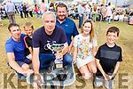 Mick Harkin winner of the wheelbarrow race at the Ballyheigue Summer Festival on Sunday with Ned and Jack Flahive, Marion Godley. Darragh Flahive and Kieran O'Sullivan