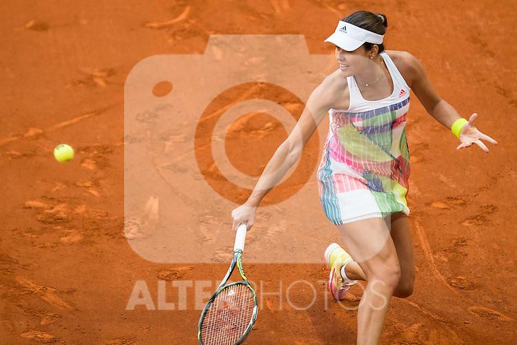 Serbian Ana Ivanovic during Mutua Madrid Open Tennis 2016 in Madrid. May 2, 2016. (ALTERPHOTOS/BorjaB.Hojas)